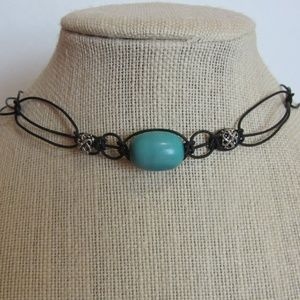 Handcrafted Leather Beaded Necklace